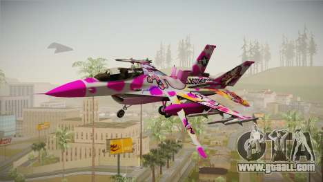 FNAF Air Force Hydra Funtime Foxy for GTA San Andreas back left view