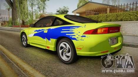 Mitsubishi Eclipse GSX 1995 HQLM for GTA San Andreas upper view