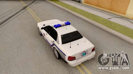 Vapid Stanier Hometown PD 2008 for GTA San Andreas back view