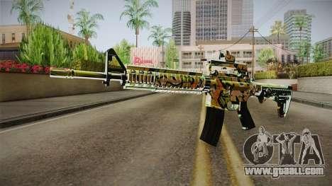 Orange Camo M4 for GTA San Andreas