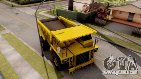 Realistic Dumper Truck for GTA San Andreas right view