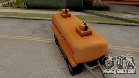 MAZ Trailer for GTA San Andreas back left view