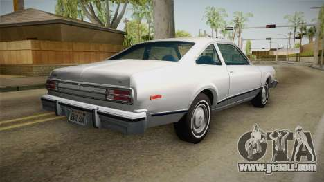 Plymouth Volare Coupe 1977 for GTA San Andreas left view