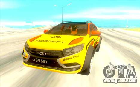 LADA X-Ray Rally for GTA San Andreas back view