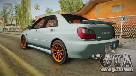 Subaru Impreza WRX Tunable for GTA San Andreas left view