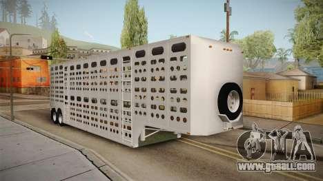 Double Trailer Livestock v1 for GTA San Andreas back left view