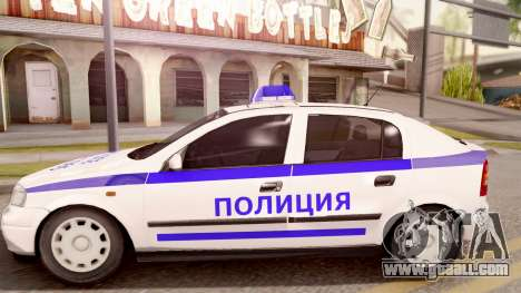 Opel Astra G Bulgarian Police for GTA San Andreas left view