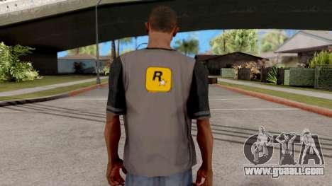 Rockstar T-Shirt for GTA San Andreas third screenshot