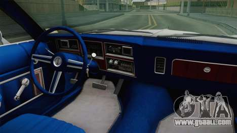 Plymouth Volare Coupe 1977 for GTA San Andreas inner view