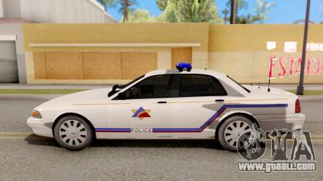 Vapid Stanier Hometown PD 2008 for GTA San Andreas left view