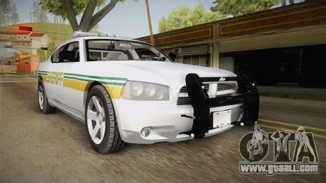 Dodge Charger 2009 Red County Sheriff Office for GTA San Andreas back left view