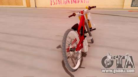 NOX Cycles Mountainbike for GTA San Andreas back left view