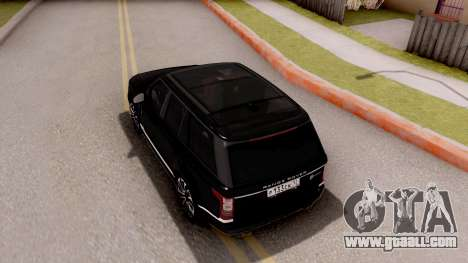 Range Rover SVA for GTA San Andreas back view