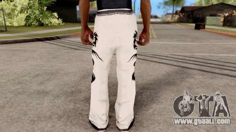 Dragon Style Pants for GTA San Andreas third screenshot