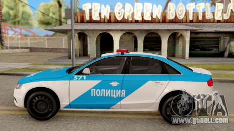 Audi S4 Russian Police for GTA San Andreas left view