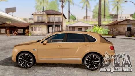 Bentley Bentayga for GTA San Andreas left view