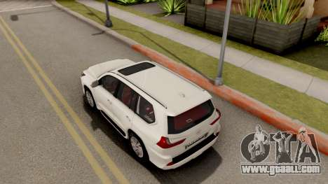 Lexus LX 570 2016 for GTA San Andreas back view