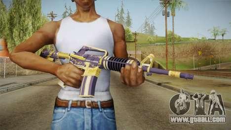 CS:GO - M4A1-S Gold Coil No Silencer for GTA San Andreas third screenshot