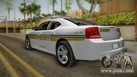 Dodge Charger 2009 Red County Sheriff Office for GTA San Andreas right view