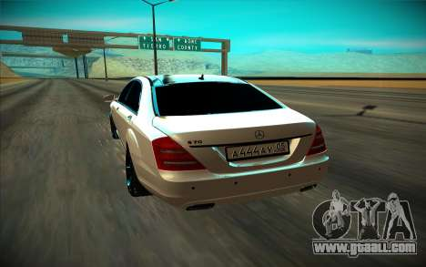 Mercedes-Benz W221 for GTA San Andreas back view