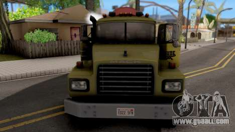 Mack RD690 Cement Mixer Truck 1992 for GTA San Andreas inner view
