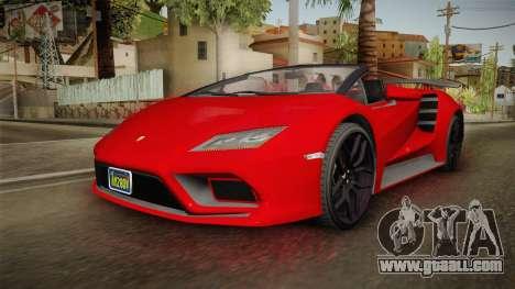 GTA 5 Pegassi Tempesta Spyder for GTA San Andreas