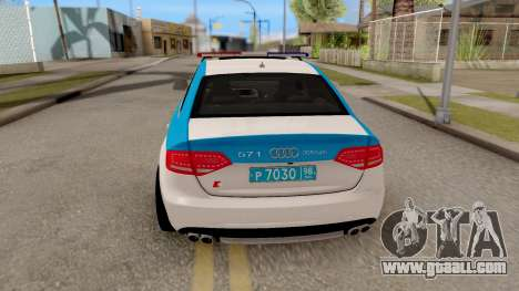 Audi S4 Russian Police for GTA San Andreas back left view