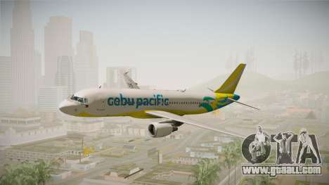 Airbus A320-214 - RP-C3242 (NC) Cebu Pacific for GTA San Andreas back left view