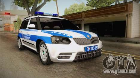 Skoda Yeti Serbian Traffic Police for GTA San Andreas