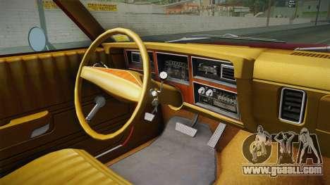 Dodge Aspen 1979 for GTA San Andreas inner view