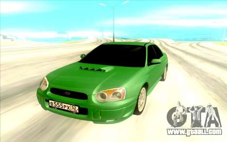 Subaru WRX STI for GTA San Andreas