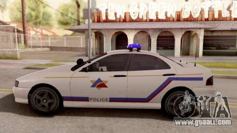 Dinka Chavos Hometown PD 2007 for GTA San Andreas left view