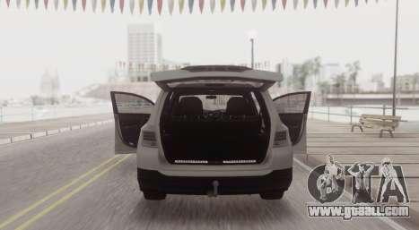 Toyota Highlander for GTA San Andreas back left view