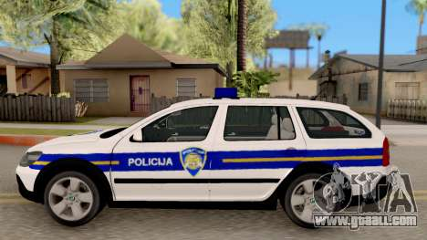Skoda Octavia Scout Croatian Police Car for GTA San Andreas left view