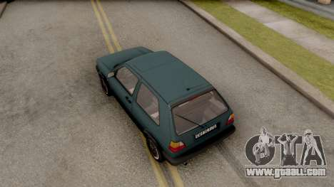 Volkswagen Golf 2 GTI for GTA San Andreas back view