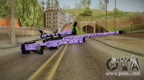 Tiger Violet Sniper Rifle for GTA San Andreas