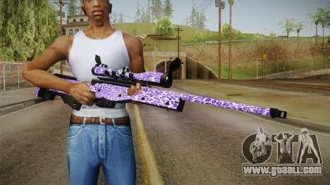 Tiger Violet Sniper Rifle for GTA San Andreas third screenshot