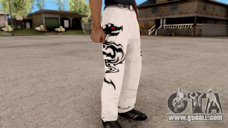 Dragon Style Pants for GTA San Andreas second screenshot