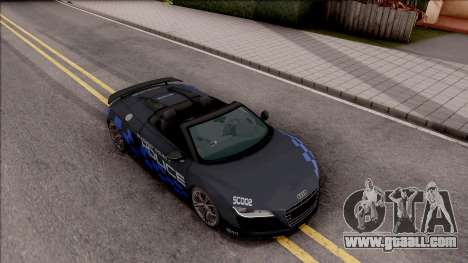 Audi R8 High Speed Police for GTA San Andreas right view