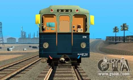 Metrostav type Hedgehog for GTA San Andreas back left view