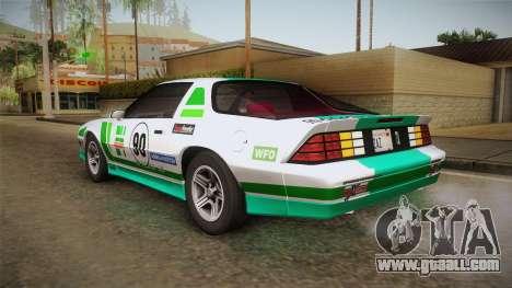 Chevrolet Camaro IROC-Z 1990 1.1.0 HQLM for GTA San Andreas interior