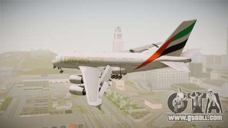Airbus A380 Emirates Expo 2020 Dubai for GTA San Andreas right view