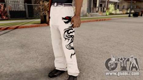 Dragon Style Pants for GTA San Andreas