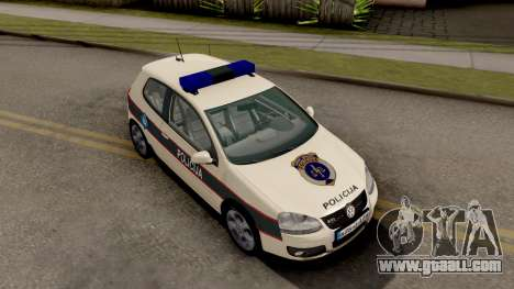 Volkswagen Golf V - BIH Police Car for GTA San Andreas right view