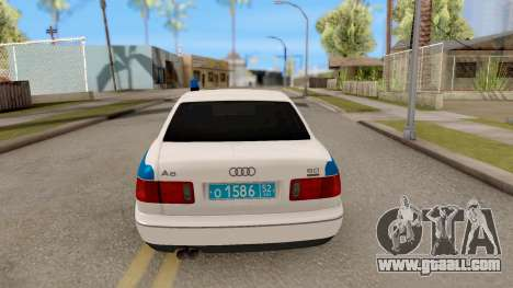Audi A8 Russian Police for GTA San Andreas back left view