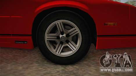 Chevrolet Camaro IROC-Z 1990 1.1.0 HQLM for GTA San Andreas back view