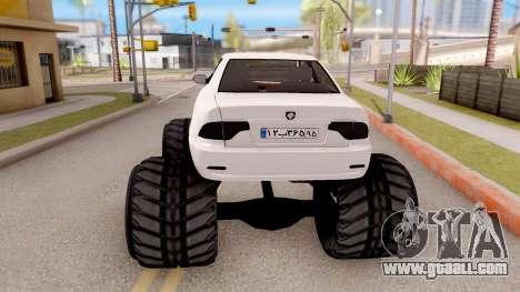IKCO Samand Soren Monster for GTA San Andreas back left view