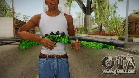 Green Escopeta for GTA San Andreas third screenshot