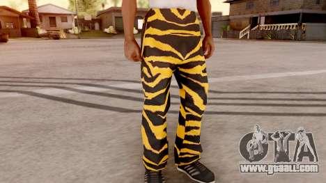 Tiger pants for GTA San Andreas second screenshot