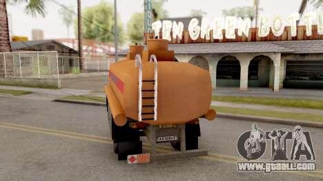 MAZ Trailer for GTA San Andreas left view